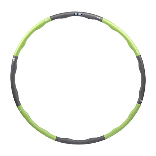1,1kg Hula Hoop Fitness und Gymnastik Reifen Gewichtete Hula Hoop Abziehbar Erwachsene Hula Hoop (Grün)