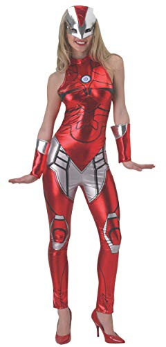 Rubie 's Offizielles Damen Marvel Miss Iron Man Resue Catsuit, Erwachsenen-Kostüm - Medium 12-14