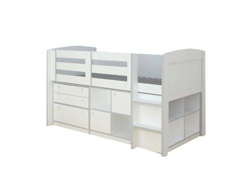 Rack Möbel Brookfield Loft Bett weiß (Twin-betten Schubladen)