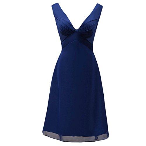Bridal_Mall - Robe - Trapèze - Sans Manche - Femme Bleu