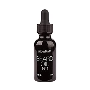 ZilberHaar Beard Oil #1 - Pure, Organic Morrocan Argan and Jojoba Oil for Natural Beard Growth and Hydration - 1 oz - Free Beard Comb Gift