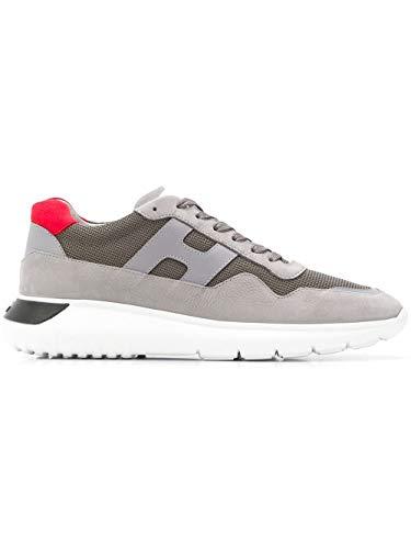 Hogan Sneakers Uomo Hxm3710aj10igk875f Pelle Grigio