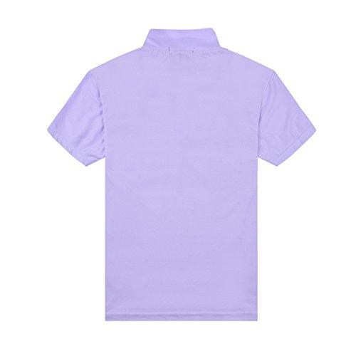 Polo da donna, Mttroli polo da donna, maglietta sportiva tops badminton Polos confezione da 2 Light Purple ( Pack Of 2 )