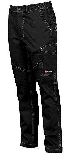 PAYPER deva store Pantaloni da Lavoro multistagione Cotone 100% Comodi e Resistenti (Nero, 52/54)