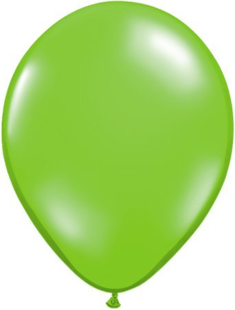 Green Alien Face Qualatex Latex 5 Balloons x 10 by Jewel Finish Solid Colour 5 Latex