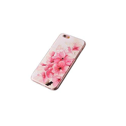 Coque iPhone 6/iPhone 6S ,Coque iPhone 6 Plus ,Coque iPhone 6S Plus Manyip TPU Silicone Souple Gel Doux Housse étui de Protection Ultra Mince Relief peint 3D Phone Case Coque(CX-01) O