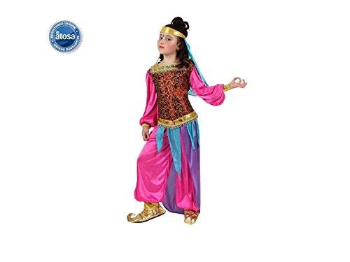 ATOSA 10662 Verkleidung Arabische Tänzerin, Größe 10-12 Jahre, Mädchen, Mehrfarbig,