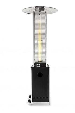 Heizpilz Heizstrahler Terrassenstrahler 'Optical Pro': CE-zertifizierter Gasheizer mit elegantem Design robuster Stahl-Alu-Rahmen für stabilen Stand des Terrassenheizers Gesamthöhe 225 (Gastherme Kaufen)