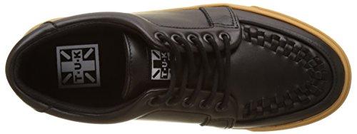 T.U.K. VLK Creeper Sneaker Black Leather/Gum, Basse Unisex - Adulto Nero (Black Leather)