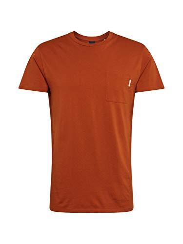 Scotch & Soda Herren T-Shirt, (Burned Orange 2916), Large (Herstellergröße: L)