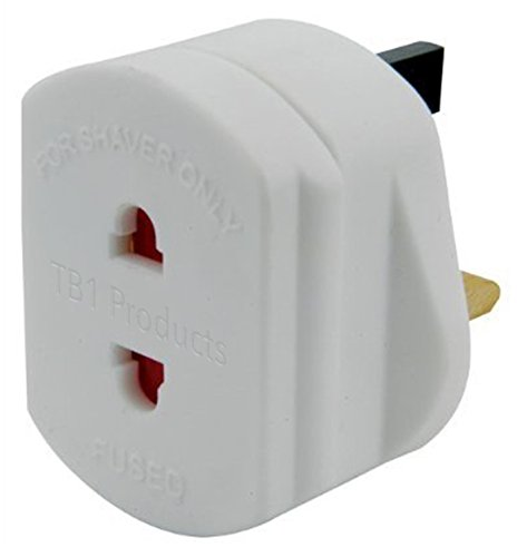 UK 2 to 3 Pin Fuse Adaptor Plug ...