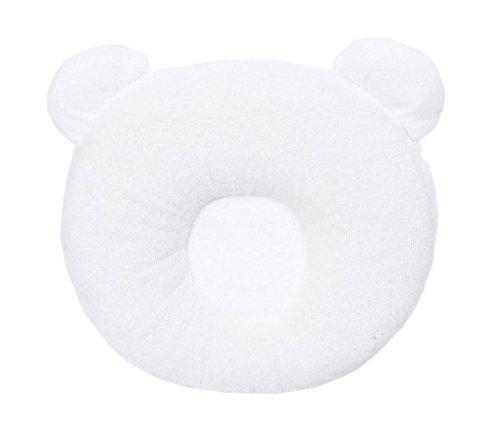 Candide 270109 Candide Panda Pad, Kissen, weiß aus viskoelastischem Schaum, gegen Plattkopf - Kopf-kissen Kinder Für