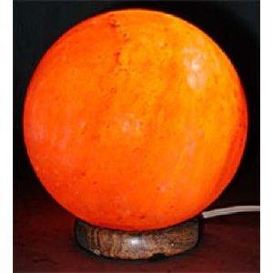 "Salzlampe ""Sonne"" aus rotem Salzkristall, (Planet), glatte Oberfläche, 15cm Ø,"
