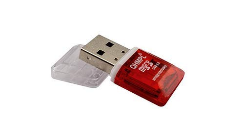 CLICK WORLD Quantum QHM5570 T Flash Micro SD Card Reader (Red)