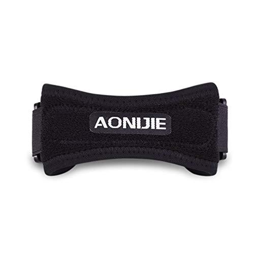 Wenwenzui Adjustable Knee Support Belt Patella Sleeve Wrap Protector Sports Knee Brace Black