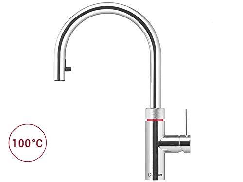 Quooker Flex PRO3-VAQ B Kochendwasserhahn/Kochendwasser-Armatur & Mischbatterie/ausziehbarer Auslauf/verchromt glänzend (CHR)