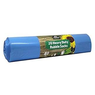 Kingfisher BBRS1 60 litros Sacos de Jardín Ultra Fuerte Papelera Bolsas/Bolsa de Basura Azul (20 Bolsas)