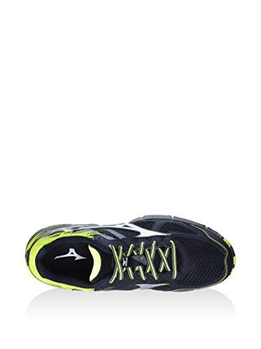 Mizuno Wave Kazan 2 Chaussure Course Trial - SS16 Noir-Jaune