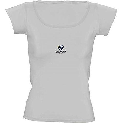 Camiseta Cuello Redondo para Mujer - Camisa Del Fútbol De Uruguay by ilovecotton