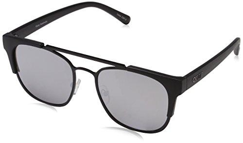 Quay Australia Unisex HIGH AND DRY Sonnenbrille, Schwarz (BLK/SLV MIRROR), One size (Herstellergröße: Einheitsgröße)