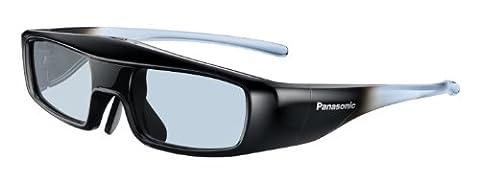 Panasonic TY-EW3D3ME Aktive 3D-Shutterbrille (geeignet für TV und Projektoren) schwarz/blau Größe M