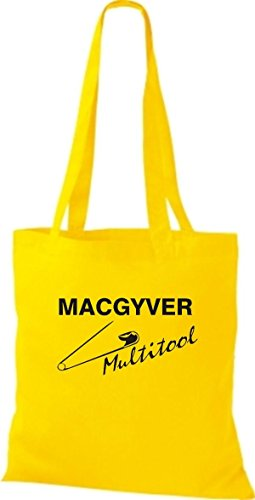 ShirtInStyle Stoffbeutel MAC GYVER Multi Tools diverse Farbe sunflower