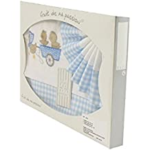 Box Set lenzuola per culla, passeggino, navicella plaid blu - design Chicks Truck