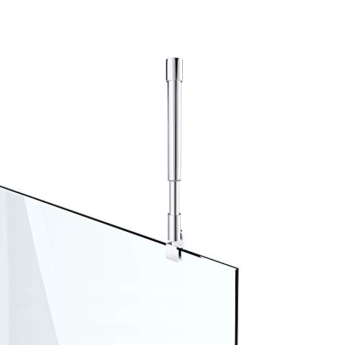 Haltestange Stabilisator für Duschwände Decke Dusche Duschabtrennung Edelstahl rund Verstellung 275-425 mm Glasstärken 6-10 mm GS33
