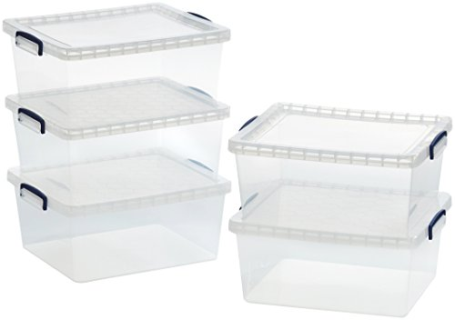 amazonbasics-scatole-portaoggetti-in-plastica-trasparente-con-coperchi-175-l-confezione-da-5