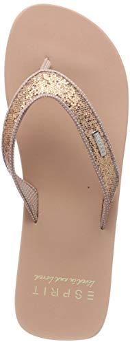 ESPRIT Damen Glitter Thongs Pantoletten Beige (Nude 685) 40 EU
