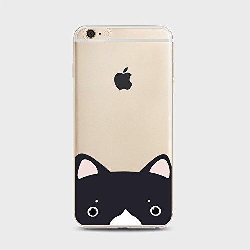 Coque iPhone 6Plus/6s Plus Housse étui-Case Transparent Liquid Crystal Chiens en TPU Silicone Clair,Protection Ultra Mince Premium,Coque Prime pour iPhone6Plus/6s Plus-style 1 Chiens-5