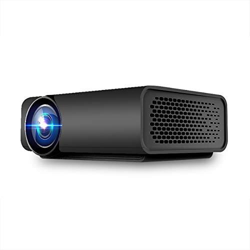 XC 1080P HD sans Fil Projecteur LED, Intégré dans Le Haut-Parleur Home Theater Jeu De Divertissement Extérieur Party, 2 Couleurs Facultatives,Black