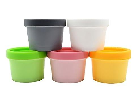 50 /100 Gramm leeren Kunststoff Mini Storage Container Dose mit Deckel Container Cream Box/Flasche Make Up Creme Probe Mask Gap beste Weihnachtsgeschenk Pack vom 3. (gelb, 50ml)