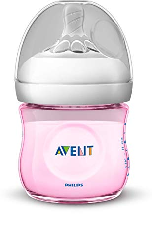 Philips SCF031/17 Avent Biberon Natural Anti-Colica, 125 ml, Rosa