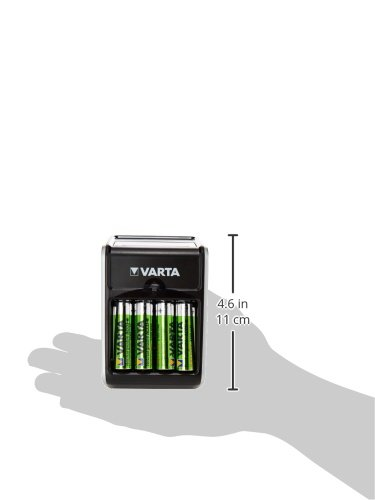 Varta LCD Plug Ladegerät (geeignet für AA/AAA/9V und USB-Geräte inkl. 4x AA 2100 mAh) schwarz - 4
