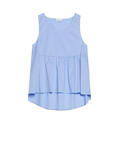 Little Mistress Ambrose Apricot Pearl Detail Wrap Top Camicia Donna
