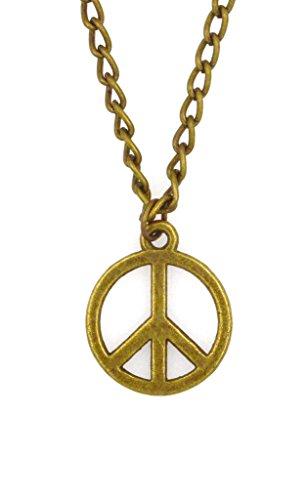It's All About...You! 61cm Bronze Panzerkette Halskette mit Peace Zeichen 2MN 60Q (Männer Für Zeichen Peace Halskette)