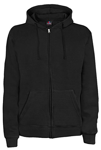 SUMG Apparel Unisex Kapuzenjacke Kapuzen Sweat-Jacke 'BASIC Hooded Zipper' (XXL, schwarz)