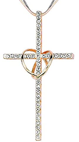 SaySure - Cross Necklaces Rose Gold Color Necklaces Crystal