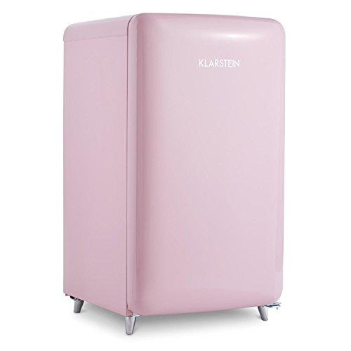 Klarstein PopArt Pink • Kühlschrank • Standkühlschrank • Retro Look der 50er • 108 Liter Volumen • 13 Liter Gefrierfach •...