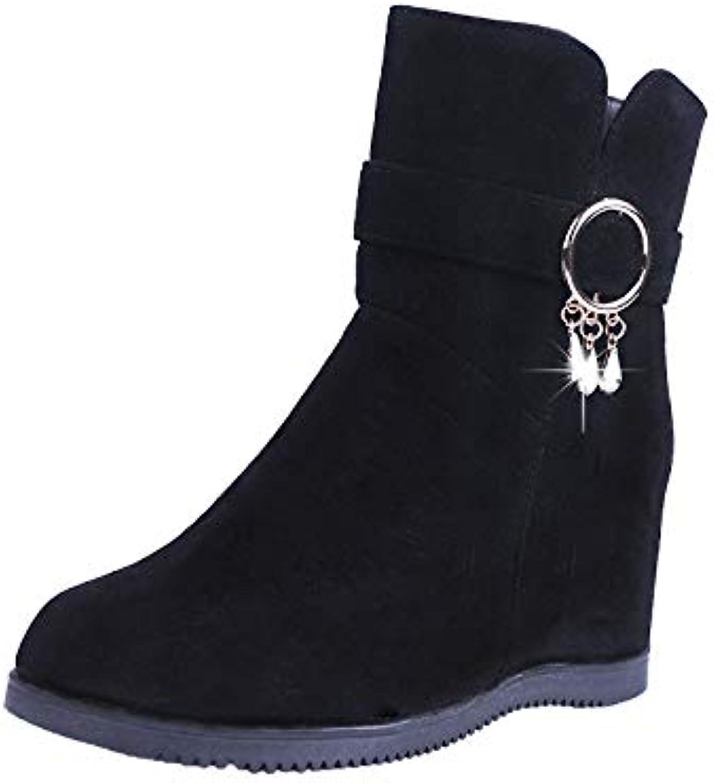 Amocon Stivali da da da Neve Stivali Invernali Scarpe da Donna Stivali Casual Tubo Medio Pu Artificiale Nero Trentasette | Shopping Online  | Uomo/Donna Scarpa  40c5c9