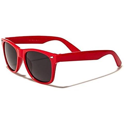Ultra® gafas adultos Wayfarer UV400 superior calidad disponibles en azul, rojo, negro, rosa, verde y blanco marcos con lentes Wayfarer estilo gafas de sol UV400 clásico elegantes tonos