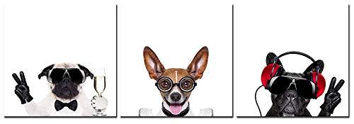 CUFUN Art - Perros fríos con anteojos Fotografías de animales para impresiones...