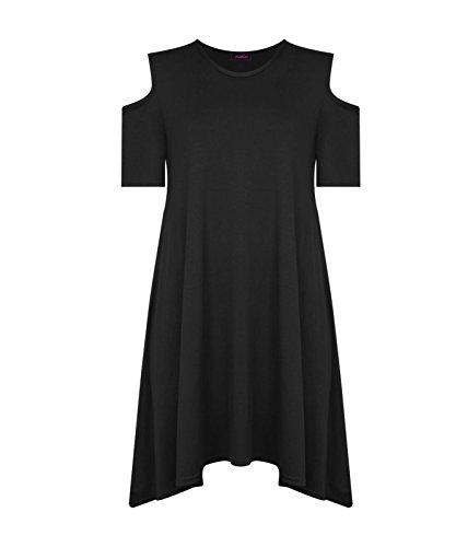 Comfiestyle - Robe - Manches Courtes - Femme Noir