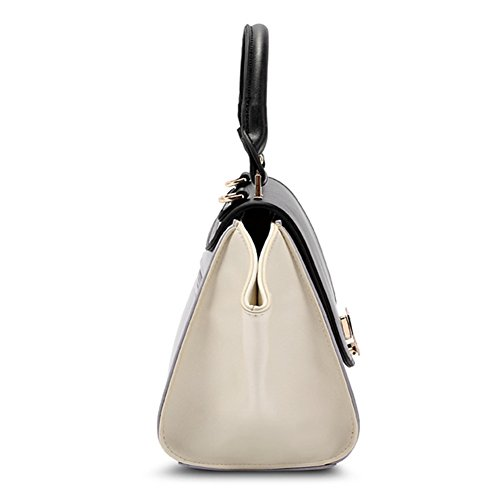 fanhappygo Fashion Retro Leder Damen elegant Flügel Handtaschen Umschlag Schulterbeutel Umhängetaschen Abendtaschen grau