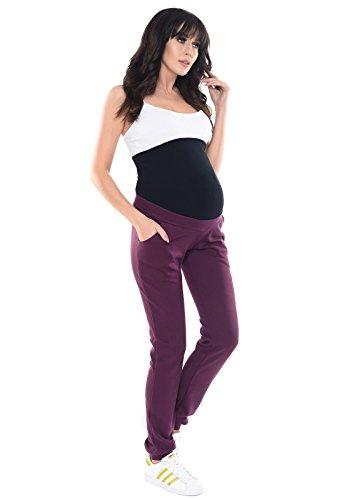 Purpless Maternity Bequeme Schwangerschaft unter und uber Bump Hose 1321 Plum