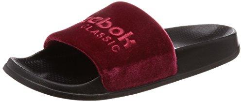 Reebok Unisex-Kinder Classic Slide Dusch- & Badeschuhe, Mehrfarbig (Coll Burgundy/Cranbery Red/Black/White/V 000), 34.5 EU