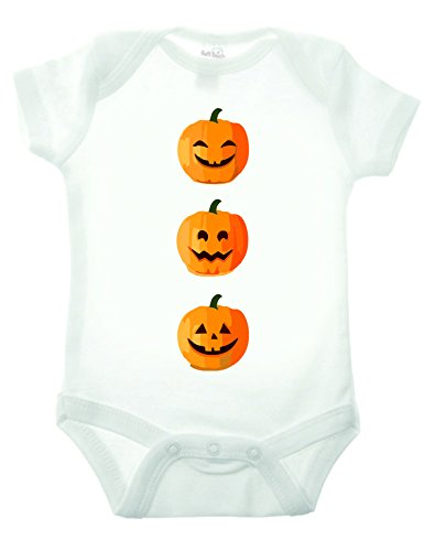 Bullshirt Kürbis Short Sleeve Strampler weiß weiß 9-12 Monate (Mutter Neugeborenen Halloween Kostüme)