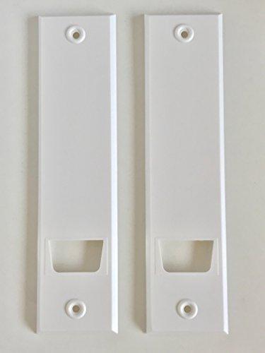 Blende Abdeckblende (Abdeckplatte Lochabstand 18,5 cm (Blende) für Gurtwickler mit eckig weiß | 2 Stück | Für Unterputz-Gurtwickler System Maxi Rolladengurte mit 23 mm Breite)