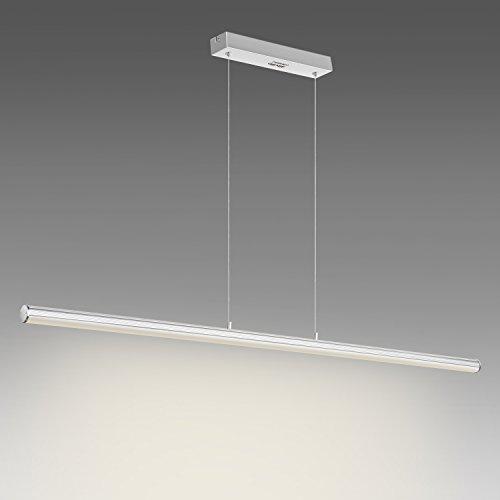 Albrillo 18W LED Pendelleuchte aus Aluminium 1440 LM Höhenverstellbare LED Hängelampe für Esszimmer, Wohnzimmer, 3000K warmweiß, 118 x 120cm